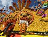 منحوتات عملاقة من الليمون والبرتقال خلال مهرجان سنوى فى فرنسا