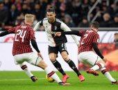 رونالدو يقود يوفنتوس لخطف تعادل قاتل من ميلان فى كأس إيطاليا.. فيديو
