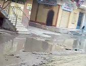 مياه الصرف الصحى تحاصر شارع مسجد التوحيد فى عزبة محمد نجيب بالمرج