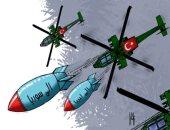 كاريكاتير صحيفة إماراتية.. تركيا تحمل الموت لليبيا و سوريا