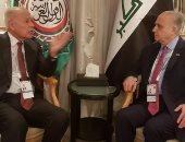 أبو الغيط يبحث مع وزير خارجية العراق مستجدات الأوضاع الإقليمية