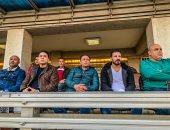 جهاز المنتخب يتابع مباراة الاتحاد وأسوان من مقصورة استاد المقاولون