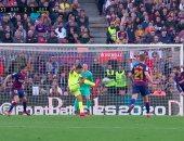 """برشلونة ضد خيتافى.. انخيل يضرب شباك البارسا بهدف رائع فى الدقيقة 66 """"فيديو"""""""