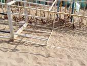 صور.. تجهيز شواطئ الإسكندرية استعدادًا لإستقبال فصل الصيف