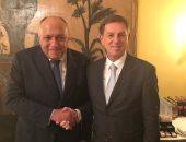 سامح شكري يبحث مع وزير خارجية سلوفينيا القضايا الإقليمية وسبل حلها