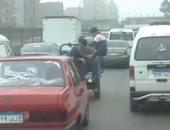 فيديو.. تكدسات مرورية بطريق إسكندرية الزراعى