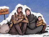 """كاريكاتير صحيفة إماراتية.. يسلط الضوء على مأساة """"اللاجئين"""""""