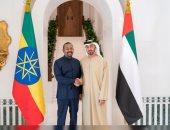 محمد بن زايد ولى عهد أبو ظبى يستقبل رئيس وزراء إثيوبيا