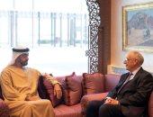 """محمد بن زايد يستقبل رئيس مجموعة """"نافال"""" الفرنسية"""
