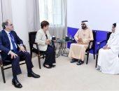 محمد بن راشد يستقبل رئيسة صندوق النقد الدولى