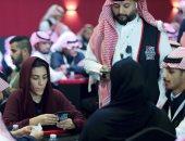 لأول مرة بالمملكة.. سعوديات ينافسن رجالا فى بطولة شتاء الرياض للبلوت..صور