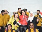 زينب بشير تحتفل بعيد الحب مع أصحاب الهمم ومحاربات بهية