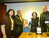 ابن توفيق الدقن وابنة عمر الحريرى فى حفل تكريم لبنى عبد العزيز بقصر السينما