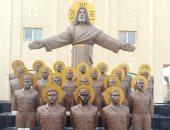 وائل الإبراشي يَعرض تقريراً عن تماثيل شهداء مصر في ليبيا وتَخليد الكنيسة لهم