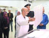 صور.. فوج من طلاب جامعة الفيوم يزورون مصنع إنتاج بطاقات الرقم القومى