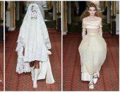 فساتين زفاف عاجية من سيمون روشا فى أسبوع الموضة بلندن.. صور