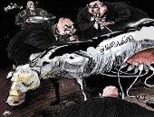 كاريكاتير صحيفة سعودية.. الفساد يسيطر على الاقتصاد اللبنانى