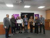 كلية اللغة والإعلام بالأكاديمية البحرية تكرم الزميلين كريم عبد السلام ومحمد ثروت