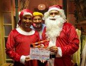 """بابا نويل وماما نويل.. أكرم حسنى وأحمد فهمى وبيومى فؤاد يستعدون لـ""""تيمون وبومبا"""""""