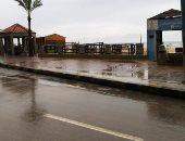 صور.. أمطار خفيفة وانخفاض درجات الحرارة فى الإسكندرية
