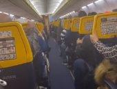 ركاب مغاربة يعيشون لحظات مرعبة فى طائرة متجهة لمطار بروكسل.. فيديو