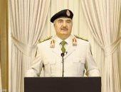 """حفتر لـ""""ماكرون"""": لن نلتزم بوقف إطلاق النار ما لم تلتزم الميليشيات المسلحة فى طرابلس"""