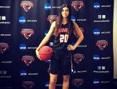 سارة نادى لاعبة منتخب السلة أفضل لاعبة فى أسبوع الجامعات الأمريكية
