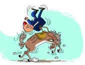 كاريكاتير صحيفة سعودية.. القضية السورية تقذف بأردوغان بعيدا