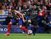 """أتلتيكو ضد ليفربول.. الريدز يخسر معركة الذهاب 1-0 بمشاركة محمد صلاح """"فيديو"""""""