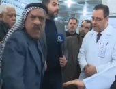 فيديو.. عراقى يلفظ أنفاسه الأخيرة فى مقابلة تليفزيونية