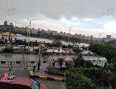 هطول أمطار غزيرة على مدن القليوبية وإعلان حالة الطوارئ بالمحافظة