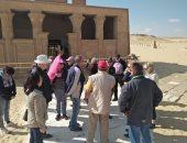 صور.. وفد سياحى ألمانى يزور المناطق الأثرية بمحافظة المنيا