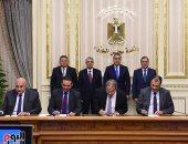 رئيس الوزراء يشهد توقيع بروتوكولات لفض التشابكات المالية بين 4 وزراء