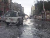 هطول أمطار غزيرة تغرق مدينتى بورسعيد وبورفؤاد.. صور