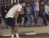 فيديو.. ميدو جابر يشارك فى مباراة كرة خماسية بعين شمس