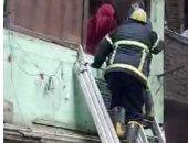 إنقاذ 4 أشخاص انهار عليهم منزل بمنطقة السيدة زينب.. صور