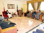 رئيس الحرس الوطنى البحرينى يستقبل رئيس مجلس الشيوخ الباكستانى