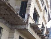 صور.. تساقط أجزاء من عقار دون إصابات ووقف 4 حالات بناء مخالف بالإسكندرية