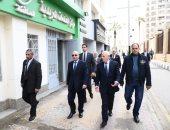 صور.. وزير العدل ومحافظ بورسعيد يتفقدان الشهر العقارى المطور