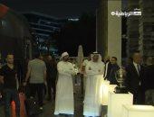 وصول لاعبى الزمالك إلى ملعب محمد بن زايد استعدادا لمباراة السوبر