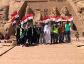 آثار أبوسمبل تنظم معسكر توعية سياحية لـ 21 طالب وطالبة استعدادا لتعامد الشمس