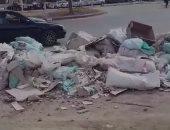 شكوى من تراكم مخلفات البناء على طريق منطقة ميدان ابن سندر بحى الزيتون
