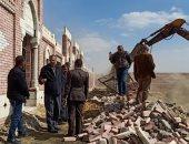 إزالة 470 حالة على أراضى أملاك الدولة والسكة الحديد والزراعة بالخانكة
