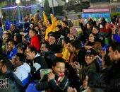 فيديو وصور.. فرحة بيضاء وحزن أحمر داخل مركز شباب الجزيرة بعد السوبر المصرى