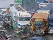 مصرع 2 وإصابة 70 آخرين فى حادث تصادم 200 مركبة بمونتريال بكندا