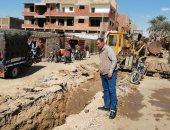 صور .. تعرف على مشروعات الصرف الصحى الجارى تنفيذها فى مدينة الطول بالأقصر