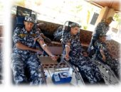 حملة للتبرع بالدم بمشاركة رجال الشرطة بمديريتى أمن سوهاج والأقصر
