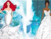 كونى كالأميرات..ديزنى تطرح فساتين زفاف مستوحاة من أزياء أميراتها..فيديو وصور