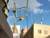 شكوى من إنارة أعمدة الإضاءة نهاراً بقرية سنهرة في القليوبية