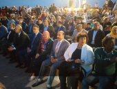"""وزيرة الثقافة تشهد الاحتفال بليلة """"تعامد الشمس"""" أمام معبد أبوسمبل..صور"""